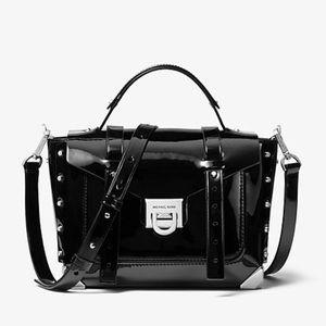 Michael Kors Manhattan patent black small bag